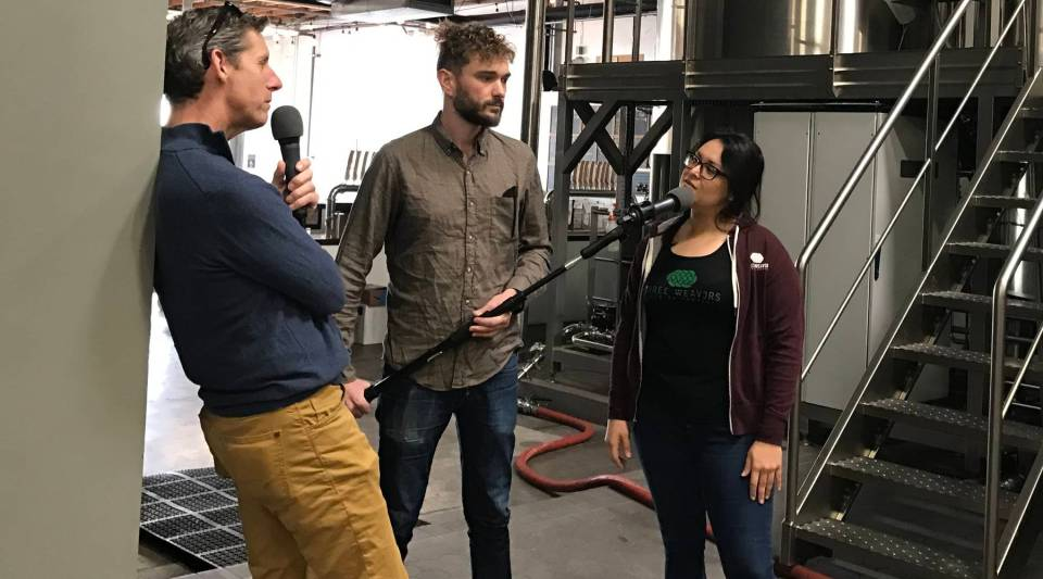 Kai Ryssdal talks with Alexandra Nowell, brewmaster at Three Weavers Brewing Co. in Inglewood, California.