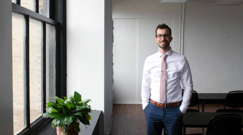 Sean Fedorko heads up Radius CoWork, Erie's first coworking space.