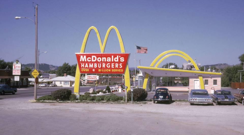 A McDonald's restaurant, August 1970.