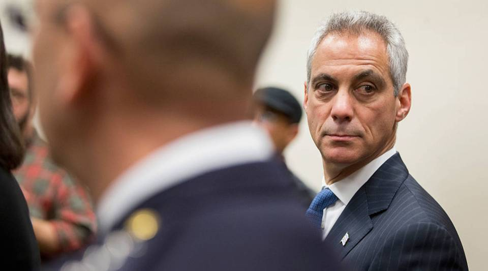Mayor Rahm Emanuel holds a press conference on December 7, 2015 in Chicago, Illinois.