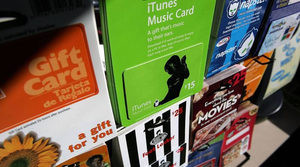 That wall of different gift cards hanging on hooks at the end of a drugstore or grocery story aisle actually has a name: the gift card mall.