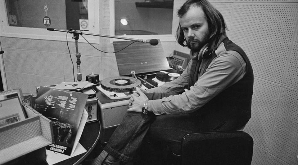 This is how we feel when we're dropping music in Make Me Smart. It's also a picture of British radio DJ John Peel in 1972.