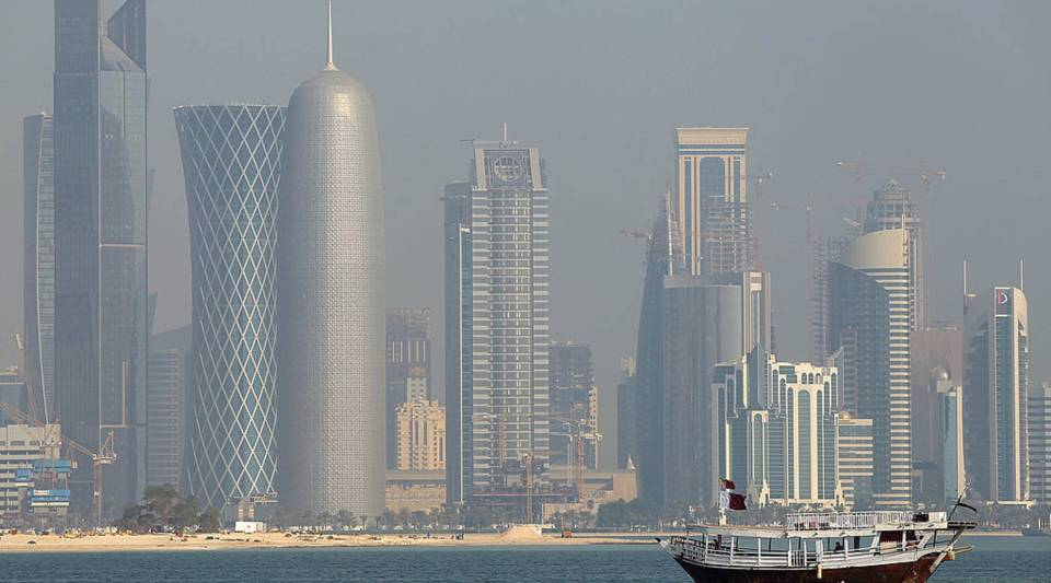Some nations are cutting off air and sea traffic with Qatar, above.