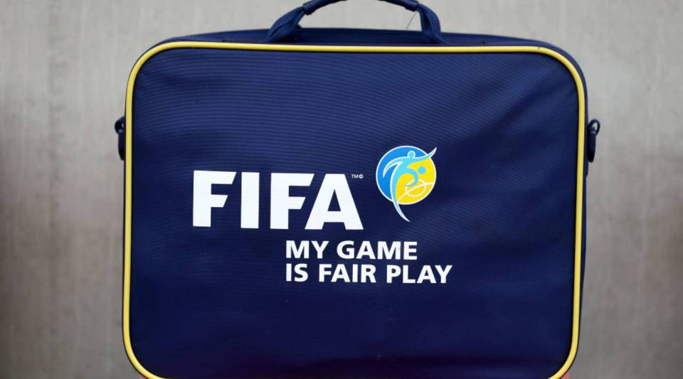 A FIFA suitcase.