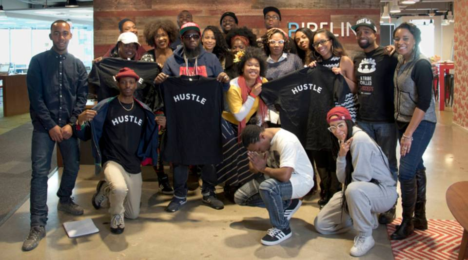 Students at the Institute of Hip Hop Entrepreneurship are learning how to start a business.