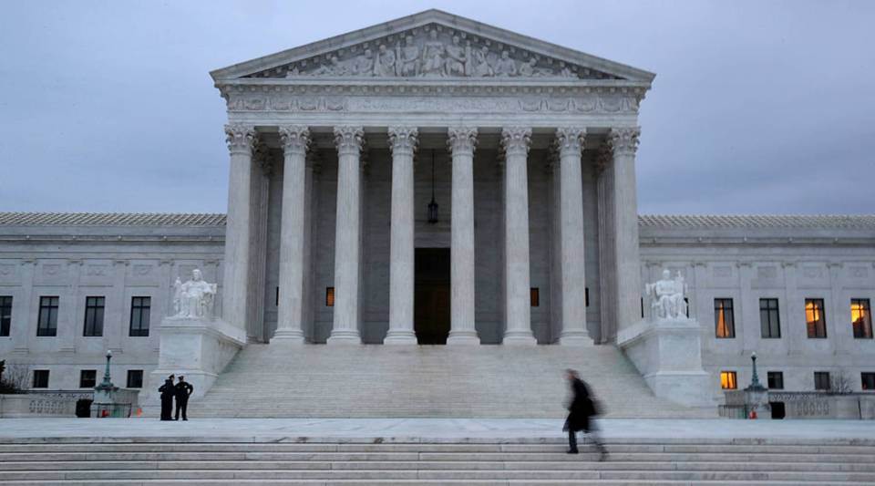 A view of the U.S. Supreme Court.