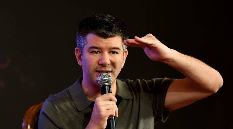Uber CEO Travis Kalanick speaks at an event in New Delhi, India last December.