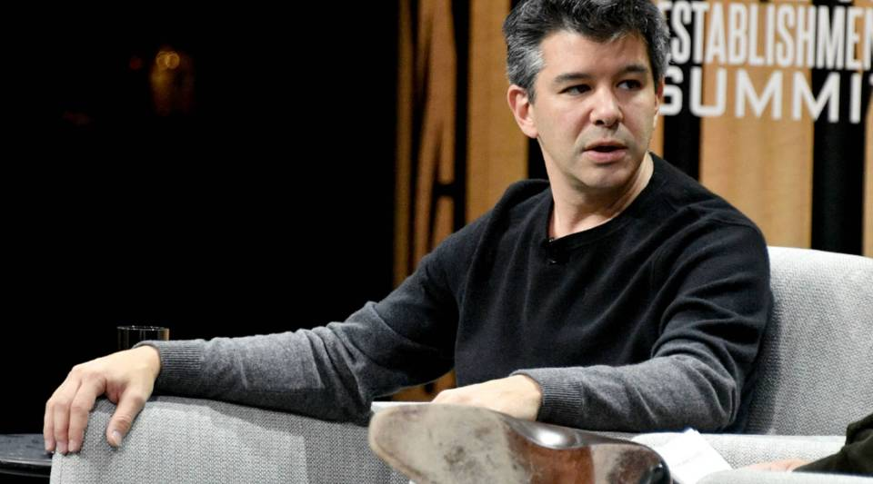 Uber CEO Travis Kalanick speaks onstage during an event at the Vanity Fair New Establishment Summit in San Francisco, California last October.