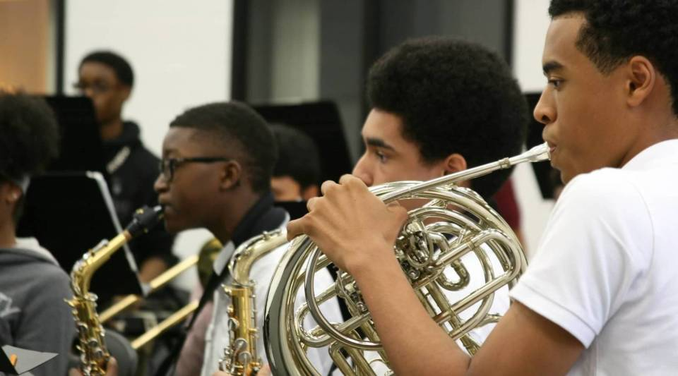 Students like these still take music classes at public schools in Georgia, but many schools in the state have had to reduce funding for such courses.