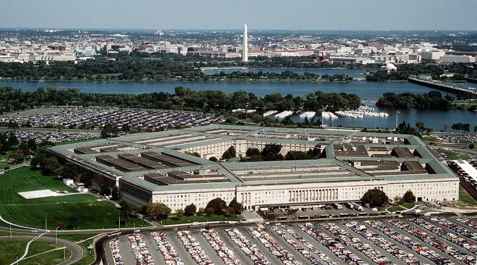 A view of the Pentagon.