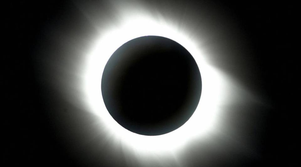A view of the full solar eclipse from Antalya, the southern coast of Turkey, in 2006.