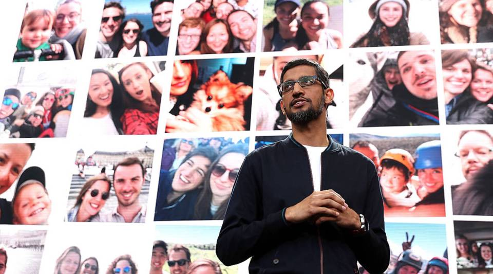 Google Sundar Pichai speaks at annual Google I/O Developers Conference in May 2016.