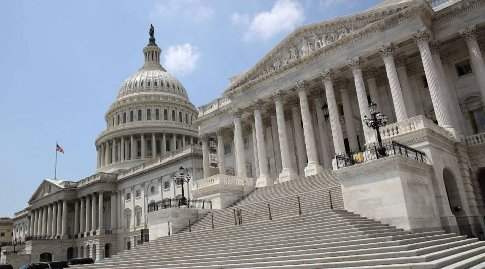 The Senate side of the U.S. Capitol. The Senate is scheduled to return from summer break on Sept. 5.