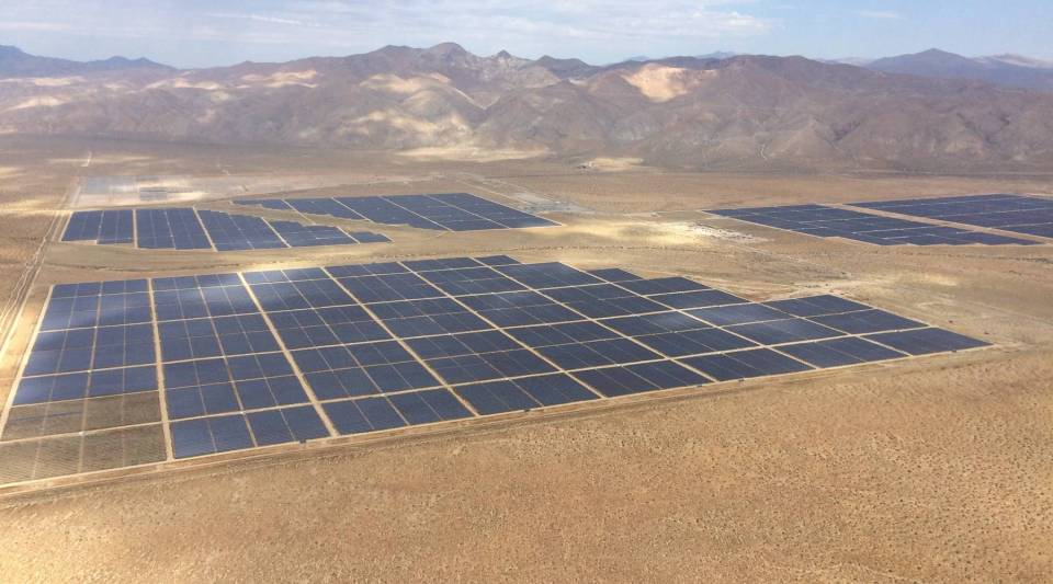 The Beacon Solar Farm will provide 250 MW of renewable electricity to Southern California when it's completed this year.