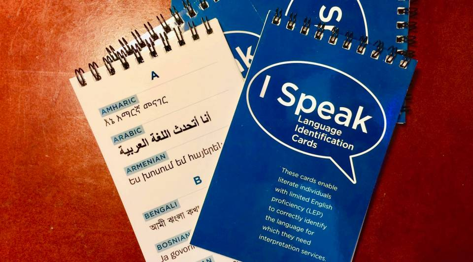 Ft. Wayne police now carry language identifier notebooks with them as a way to determine and locate appropriate interpretation services.