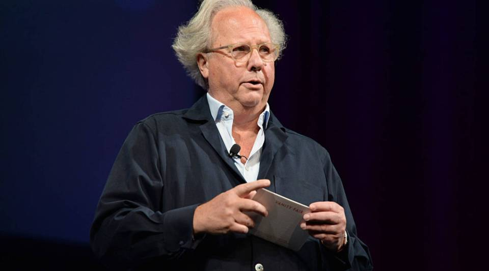 Graydon Carter welcomes his audience at the Vanity Fair New Establishment Summit in 2014 in San Francisco.