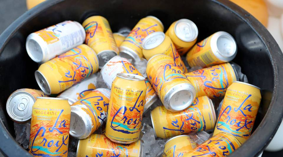 Tangerine-flavored La Croix in a cooler. If this resembles your fridge, then you're not alone.