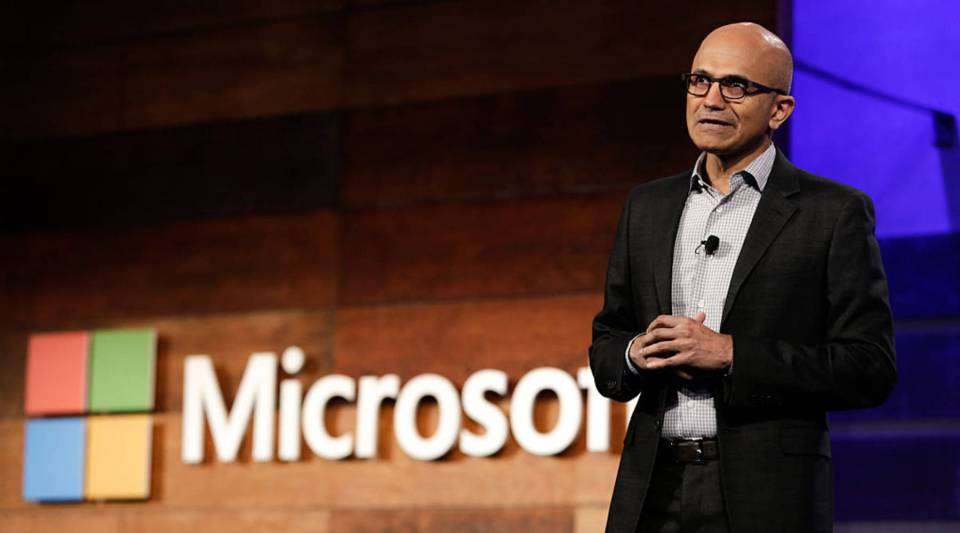 Satya Nadella, CEO of Microsoft Corp., speaks at the Microsoft annual shareholders meeting in Bellevue, Washington, in 2016.