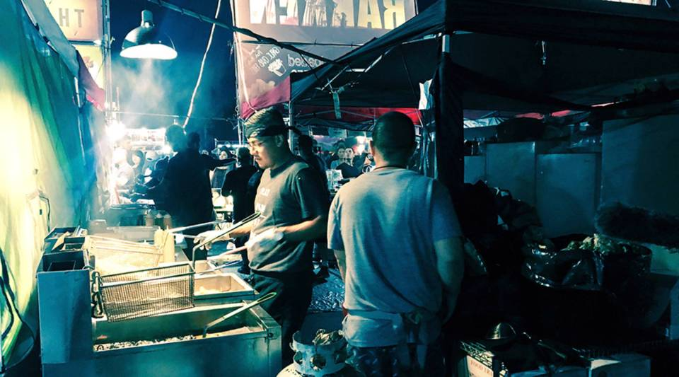 Hundreds of pop-up restaurants spend weekends in the summer serving food at the 626 Night Market in Arcadia, California.