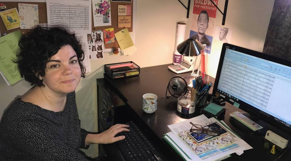 Nadine Vassallo, manager of independent bookseller Book Soup, in West Hollywood, California, schedules a 20-person staff with an Excel spreadsheet.