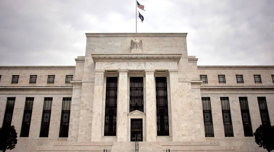 A view of the Federal Reserve building in Washington, D.C.