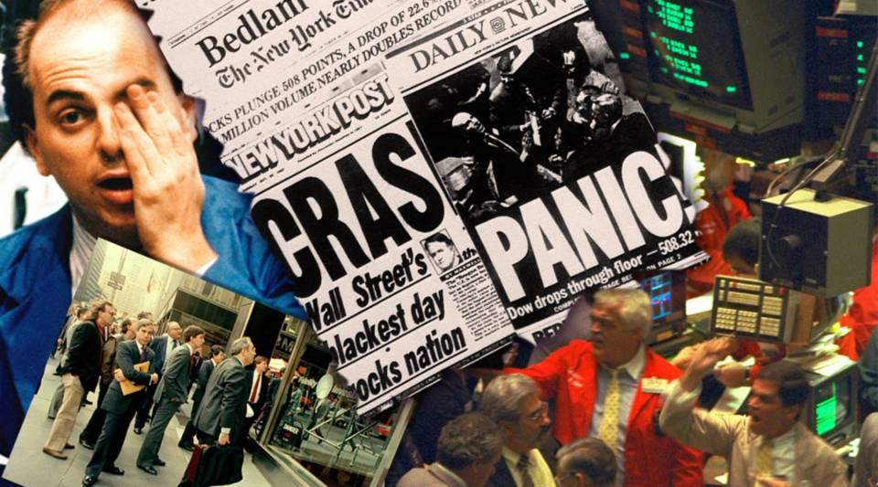 The stock market crash of October 1987.