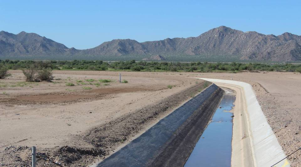 The Gila River Indian Community could have chosen to bank their water in underground storage systems through recharge facilities like this one on their reservation.
