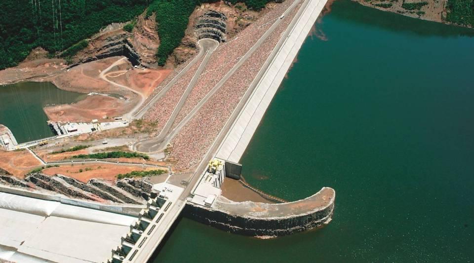 The Alcoa Barra Grande hydroelectric power dam in southern Brazil.