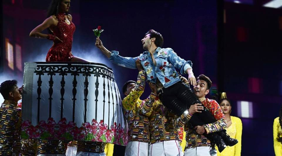Bollywood actor Varun Dhawan performs on stage during the 18th International Indian Film Academy Festival in East Rutherford, New Jersey, in July.