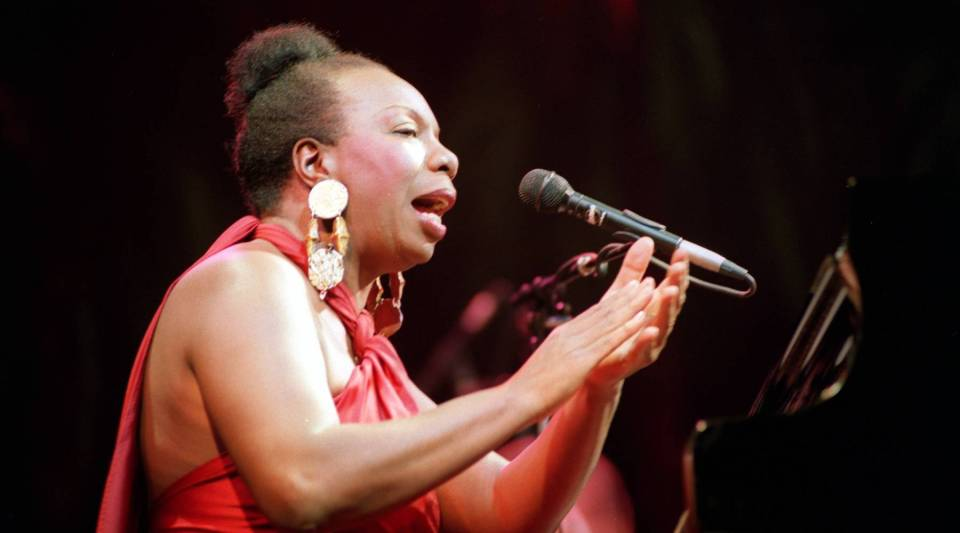 Picture dated October 22, 1991, of legendary jazz and blues singer Nina Simone in concert at the Olympia music hall in Paris.