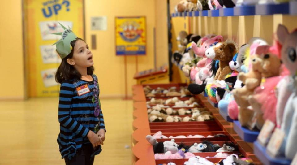 Build-A-Bear Workshop provides a tactile experience that can't be replaced by iPads and cellphones, says CEO Sharon Price John.