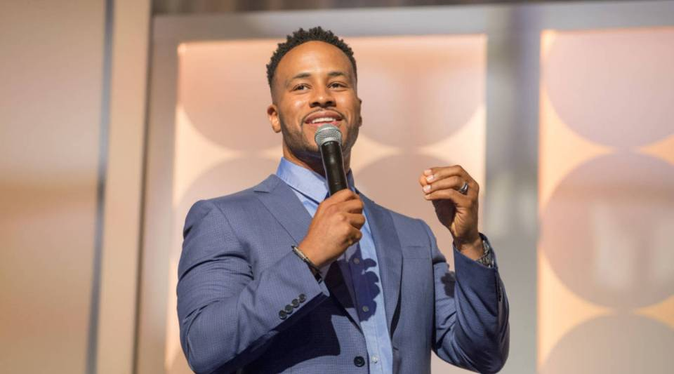 DeVon Franklin speaks during the MegaFest Leading Men In Hollywood Panel at the Omni Hotel on June 29, 2017 in Dallas, Texas.