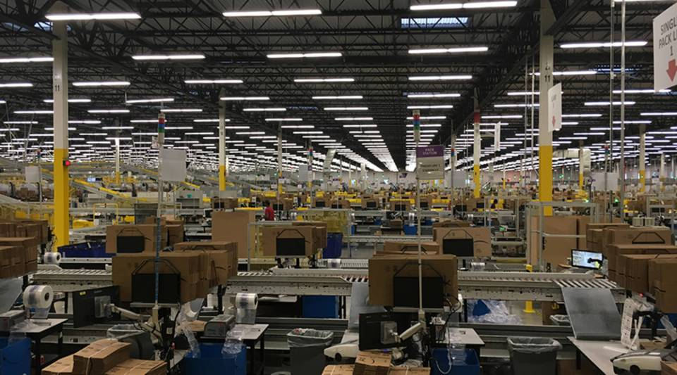 Amazon's 800,000-square-foot fulfillment center in Kent, Washington, employs more than 3,500 full-time workers, and is hiring 2,500 more temporary seasonal workers for the holidays.