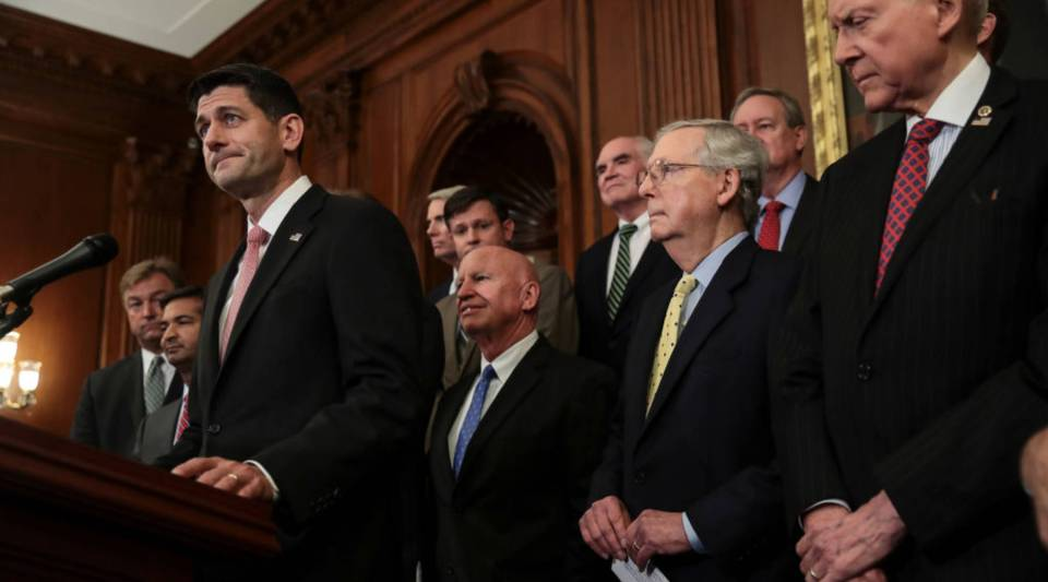 Speaker of the House Paul Ryan (R-WI) speaks during a news conference to discuss the GOP's plans for tax reform back in September in Washington, D.C.
