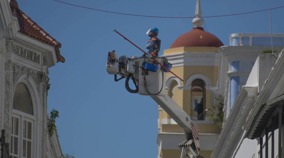 Con Edison crews from New York help restore power in Old San Juan, Puerto Rico.