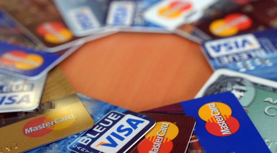 Credit cards are pictured, on February 5, 2013 in Rennes, western France.
