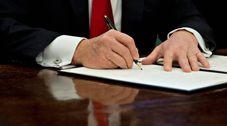 President Trump signed an executive order in January that he said he will 'dramatically' reduce small business regulations overall with this executive action.