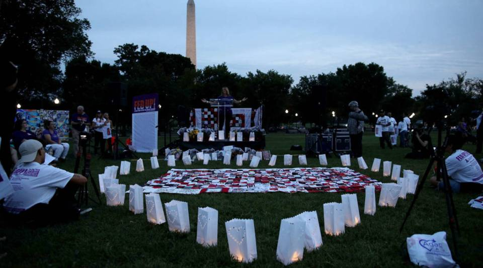 A candlelight vigil recognizing the nation's opioid addiction crisis in Washington, D.C.