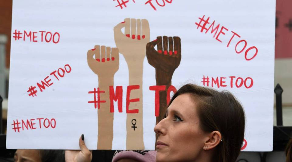 Victims of sexual harassment, sexual assault, sexual abuse and their supporters protest during a #MeToo march in Hollywood, California, on Nov. 12.