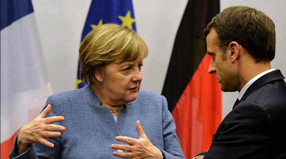 German Chancellor Angela Merkel's political vulnerability coincides with French President Emanuel Macron's call for an overhaul of the European Union.