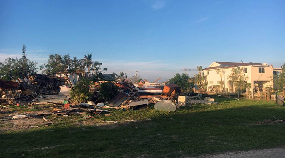 The remains of a home destroyed by Hurricane Irma in Goodland, Florida, where the storm made landfall.