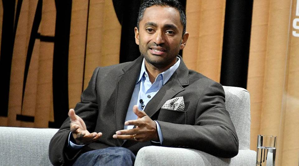 The founder and CEO of Social Capital, Chamath Palihapitiya, speaks onstage at the Vanity Fair New Establishment Summit back in Oct. 2016 in San Francisco, California.