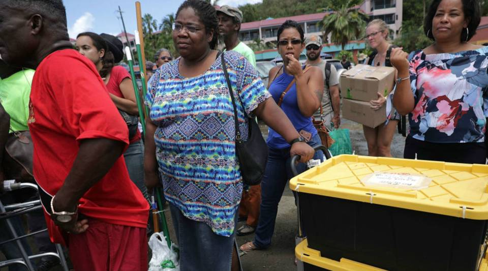 Laura Forbes prepares to load cleaning supplies onto a ferry taking them to her mother St. Thomas more than a week after Hurricane Irma made landfall in Christiansted, St Croix, U.S. Virgin Islands.