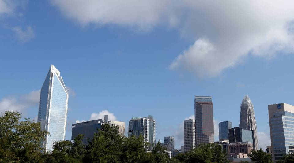 A general view of Charlotte, North Carolina's skyline.