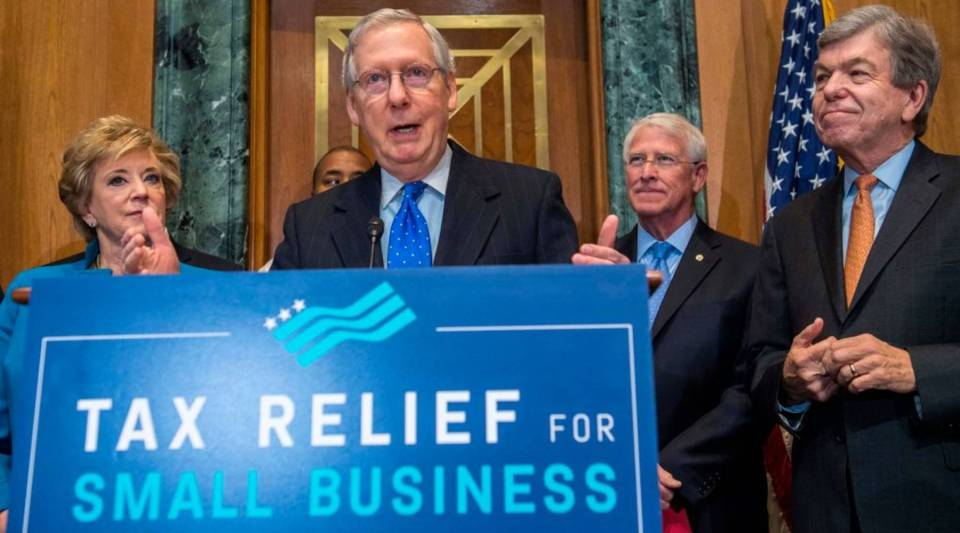 U.S. Senate Majority Leader Mitch McConnell speaks about tax reform on Capitol Hill in Washington, D.C.