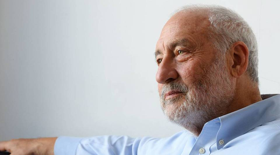 Nobel prize-winning US economist Joseph Stiglitz poses during an interview in Paris.