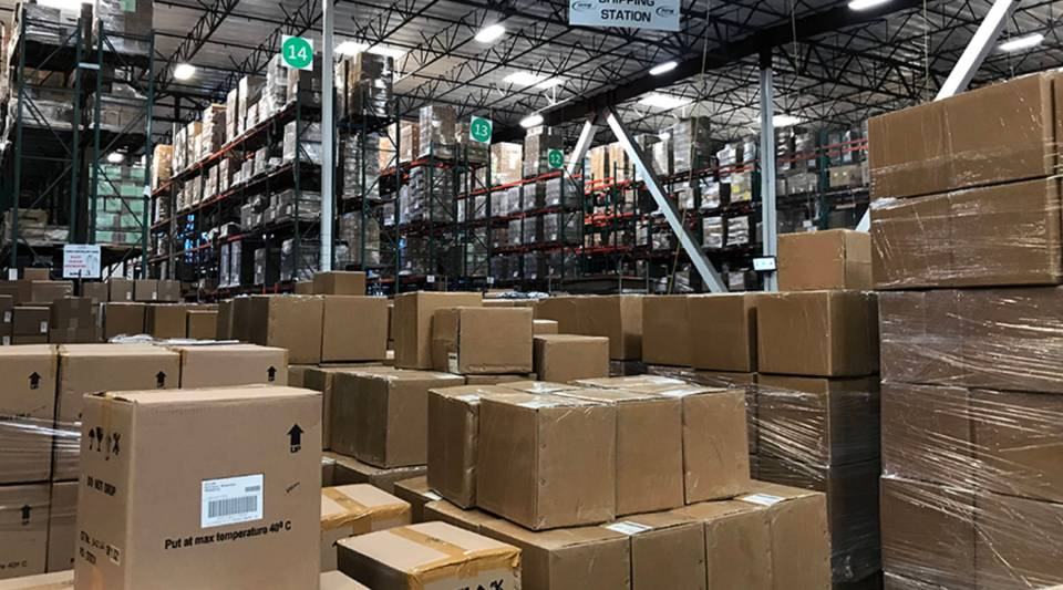 During the holiday season, orders to consumers nearly double at AMS Fulfillment Services, a company located outside of Los Angeles.