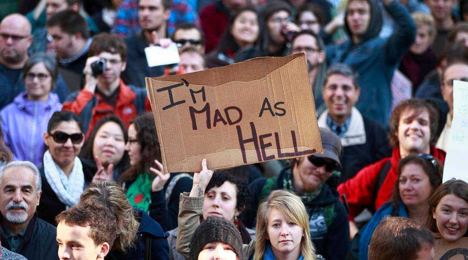 Inspired by the Occupy Wall Street protest in New York City, thousands of people took to the streets in cities across the world to voice their anger about what they described as corporate greed.