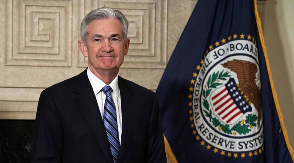 Jerome Powell at his swearing-in ceremony Feb. 5 at the Federal Reserve in Washington, D.C.