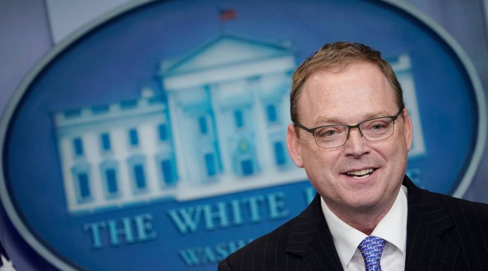 Kevin Hassett, chair of the Council of Economic Advisers, at a daily White House briefing in November.